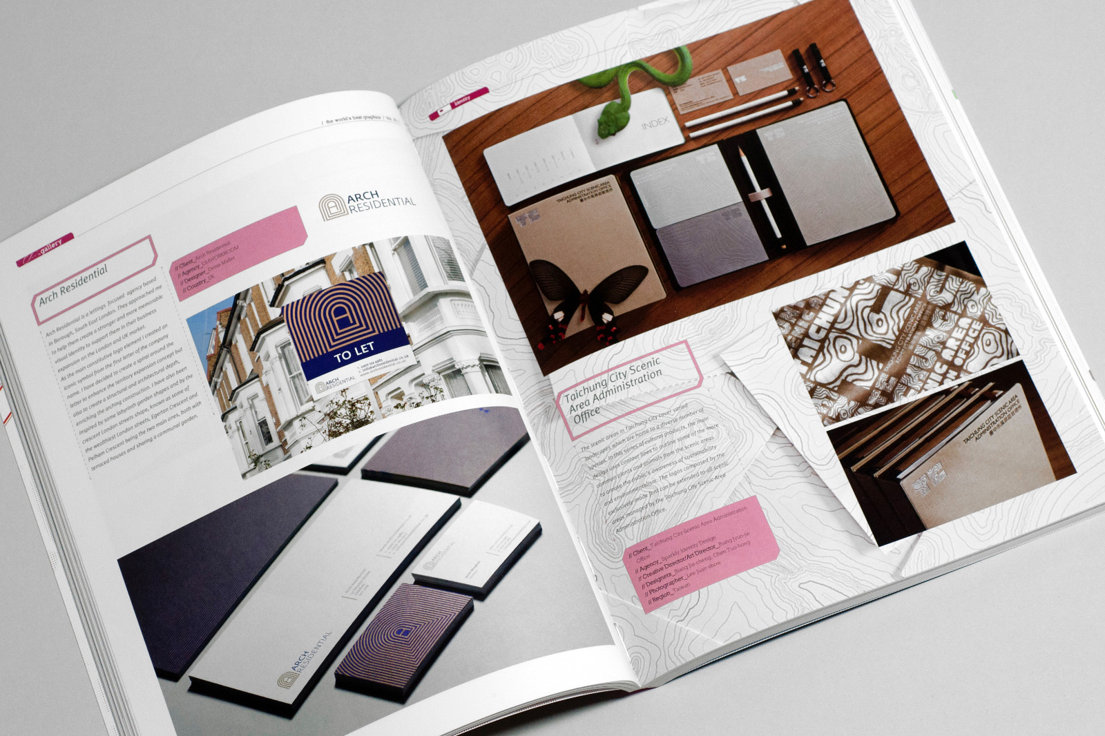 Arch Residential visual identity by Europa Studio published in Chois Gallery, Volume 25, p. 71–72, 2014