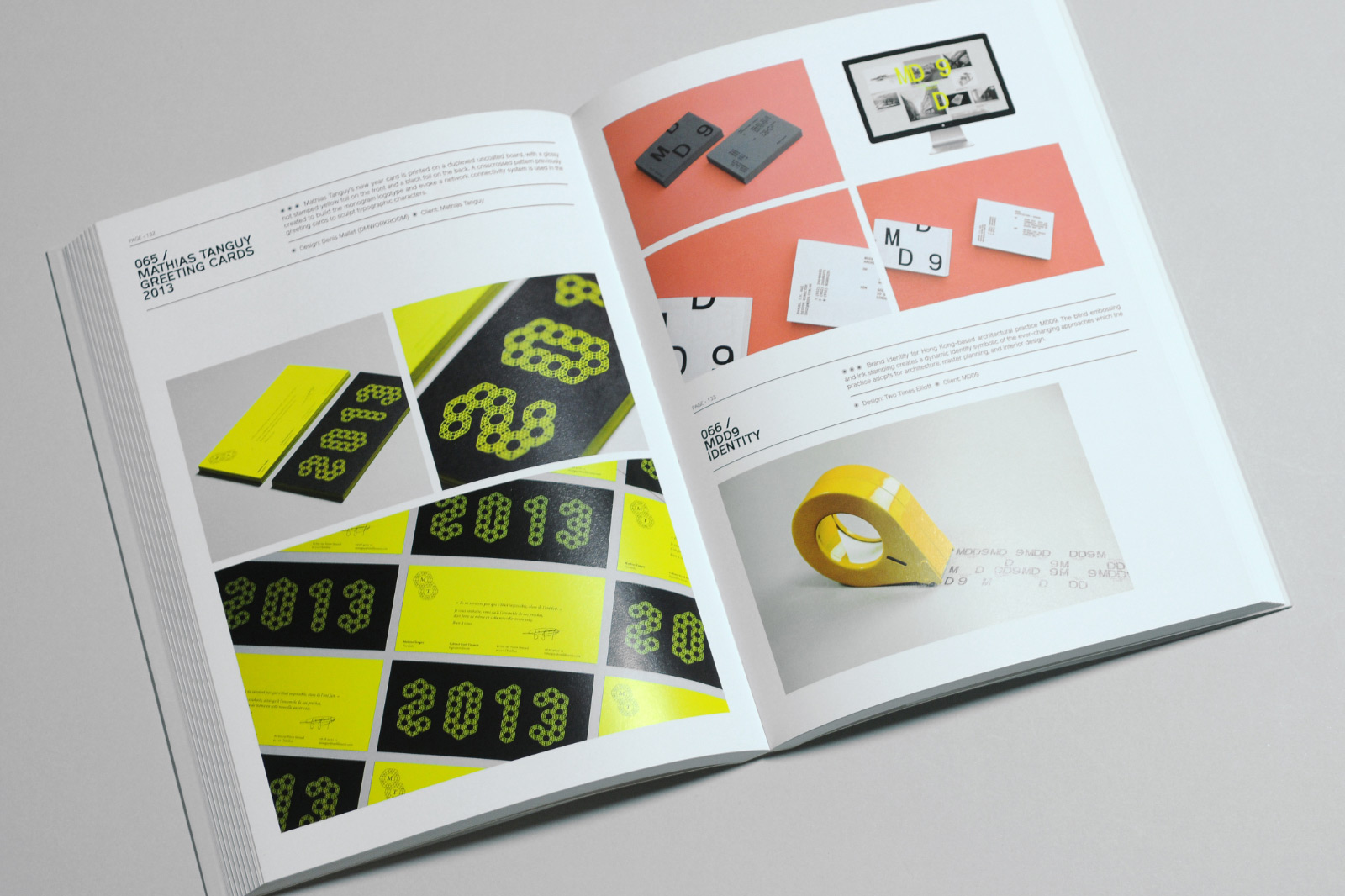 Mathias Tanguy business cards by Europa Studio featured in Graphic Digits publication.